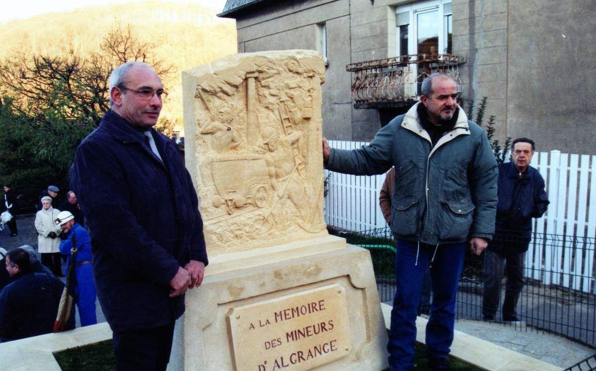 Sainte-Barbe des Mineurs et inauguration de la stèle en 2003 à Algrange