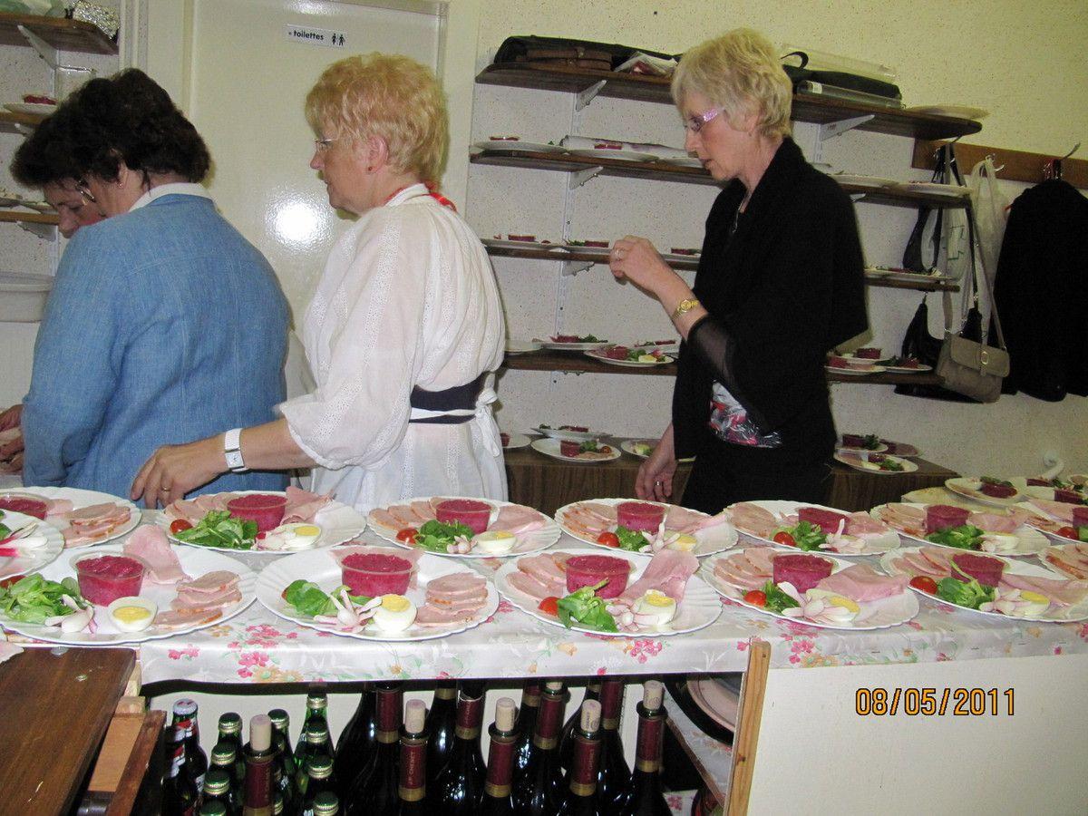 Menu de Pâques chez les Polonais en 2011 à Algrange