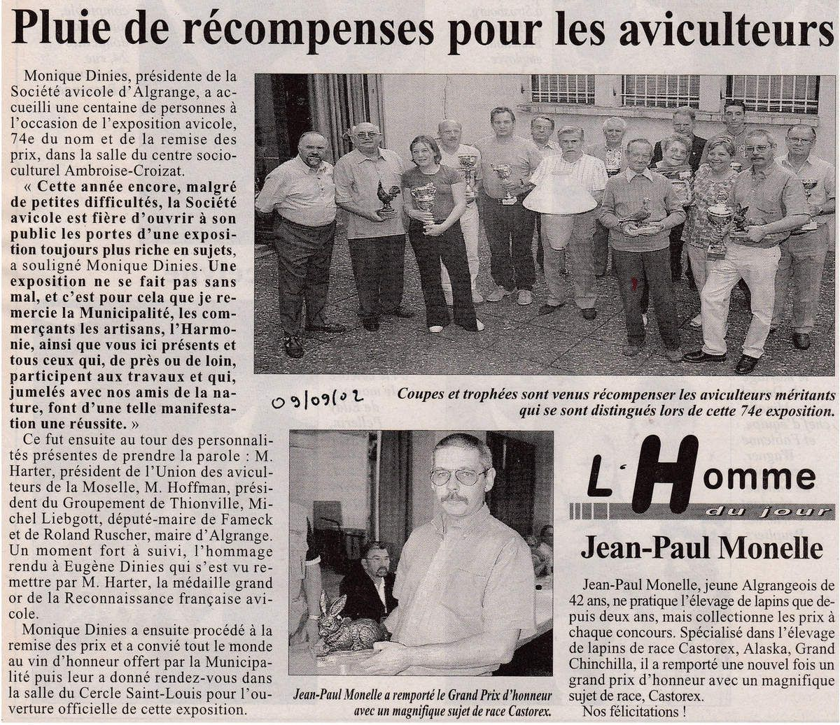 Article du RL du 9 septembre 2002
