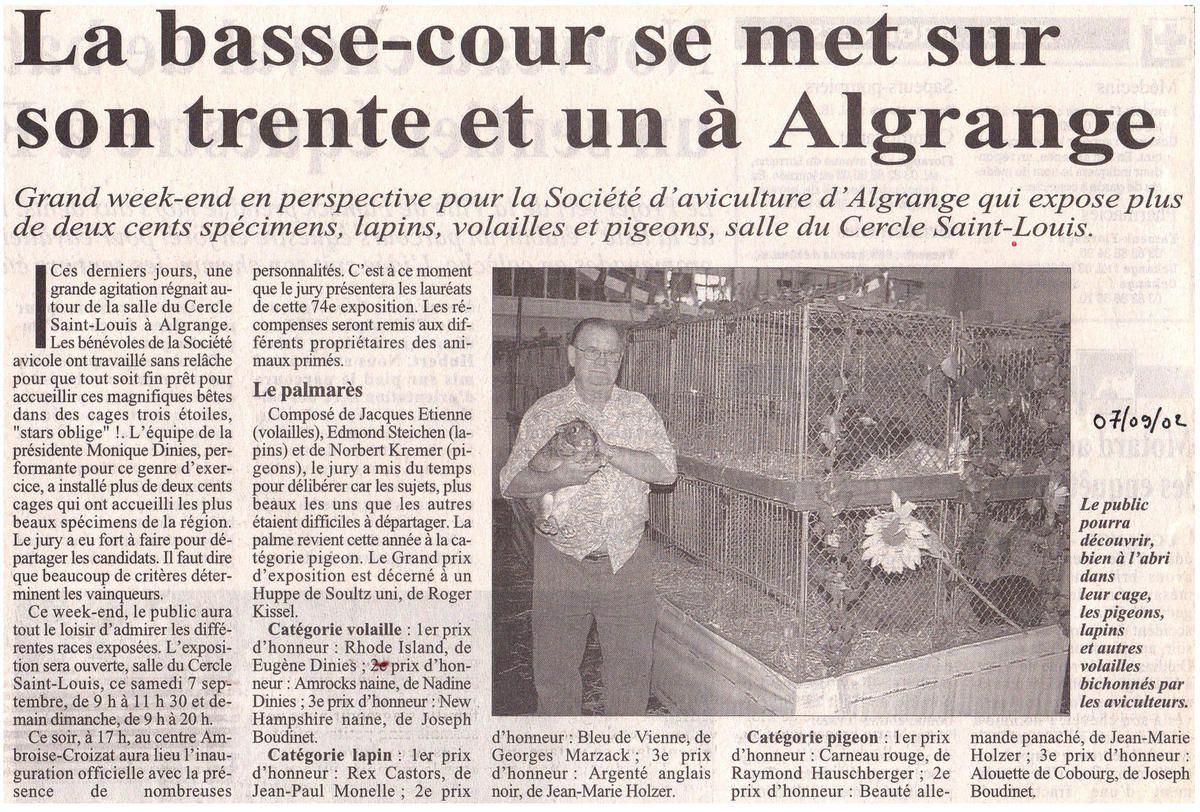 Article du RL du 7 septembre 2002