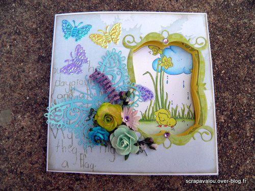Carte magnolia &quot&#x3B;joyeuses Pâques&quot&#x3B;
