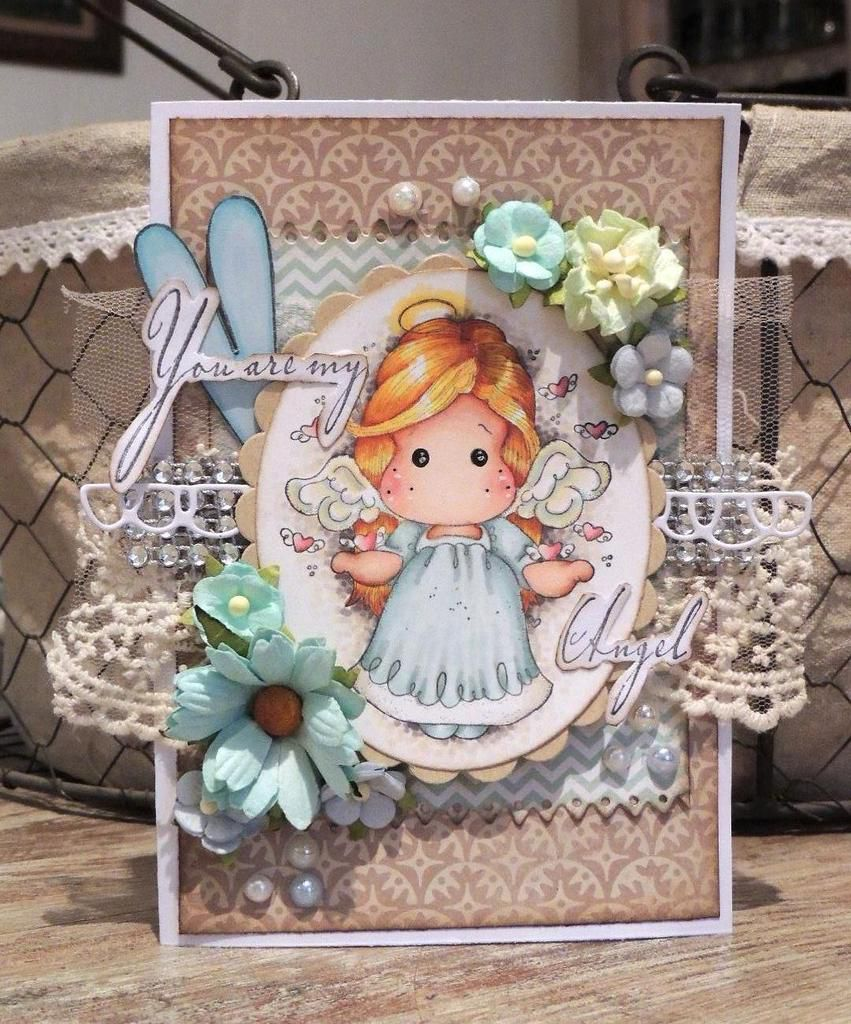 Carte Magnolia :&quot&#x3B;you are my angel&quot&#x3B;