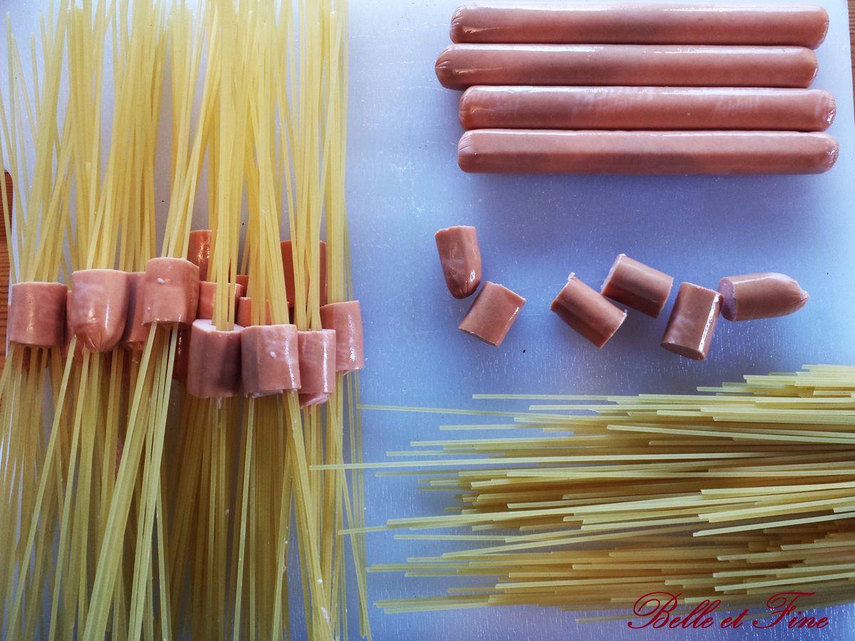 Knackis aux spaghettis, le plat rigolo pour les petits et les grands!