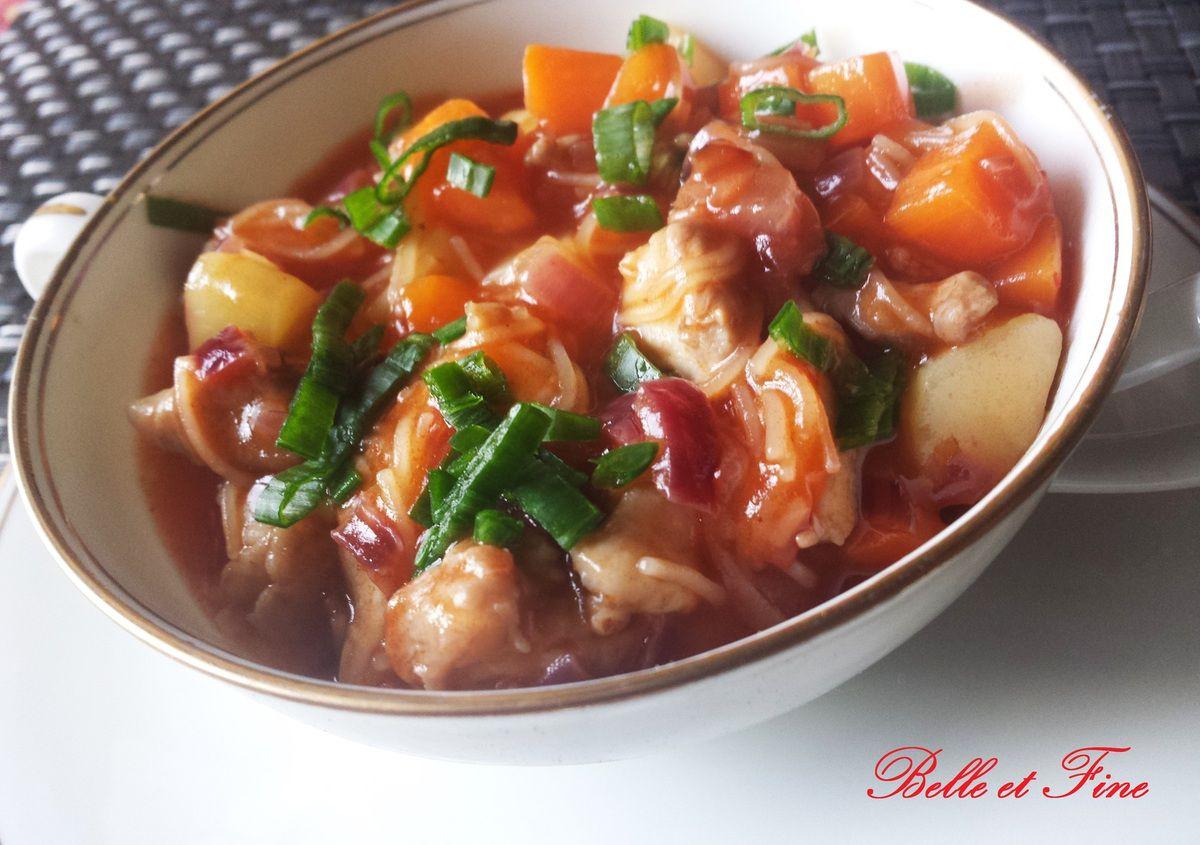 Soupe aigre douce de légumes à la chinoise