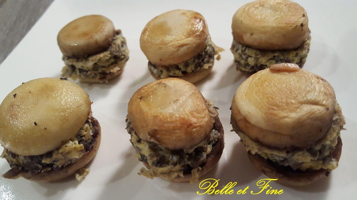 Mini hamburger tout champignon, trop mignon...