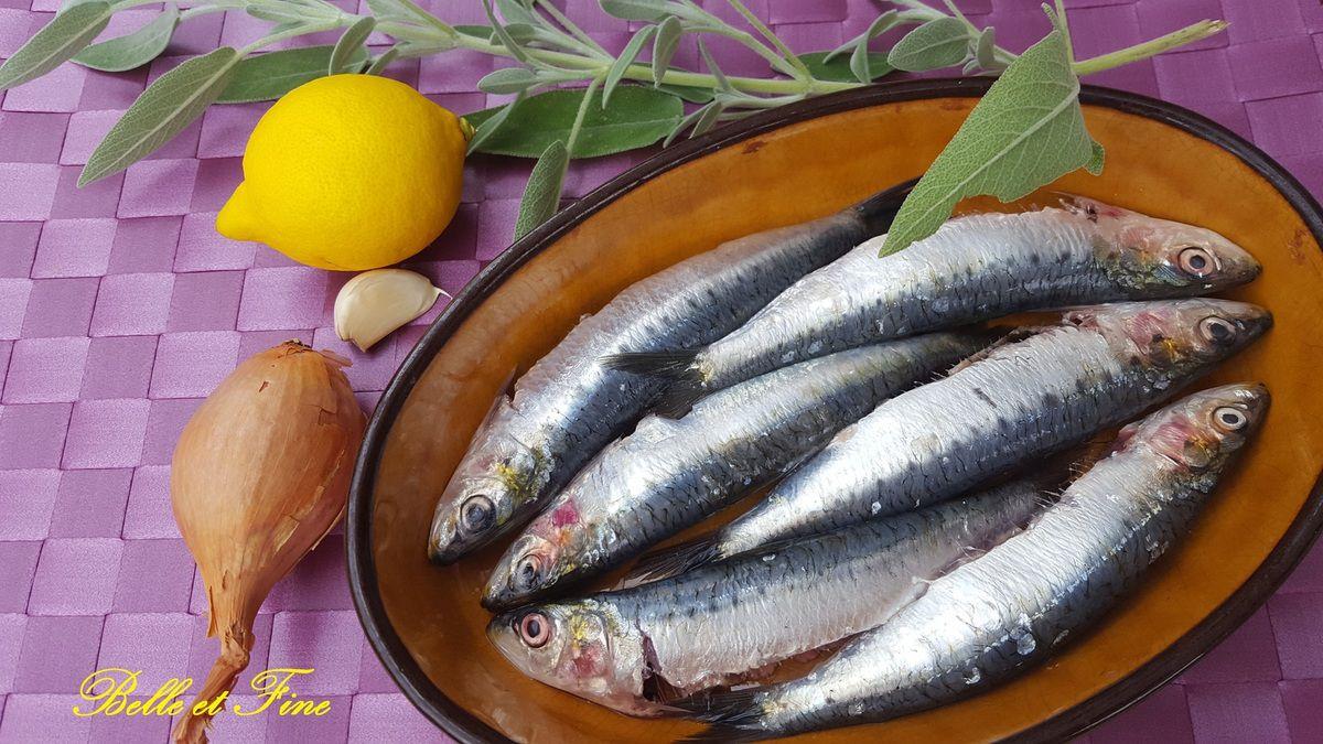 Sardines marinées à la sauge
