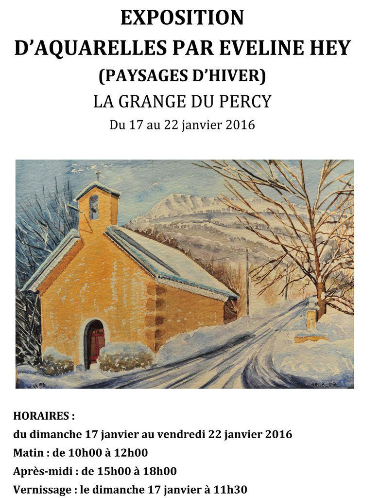 Expo peintures: du 17 au 22 janvier, La Grange