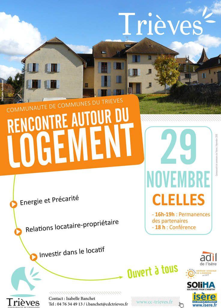 Rencontre autour du logement mardi 29 novembre à Clelles :