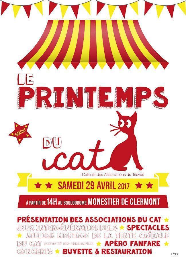 LE PRINTEMPS DU CAT: SAMEDI 29 AVRIL - 14H00 MONESTIER DE CLERMONT