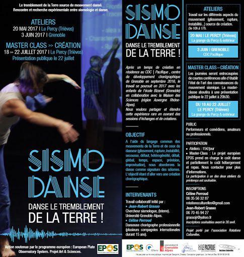 SISMO DANSE: RESTITUTION PUBLIQUE LE 22 JUILLET A 20H30 - GRANGE DU PERCY