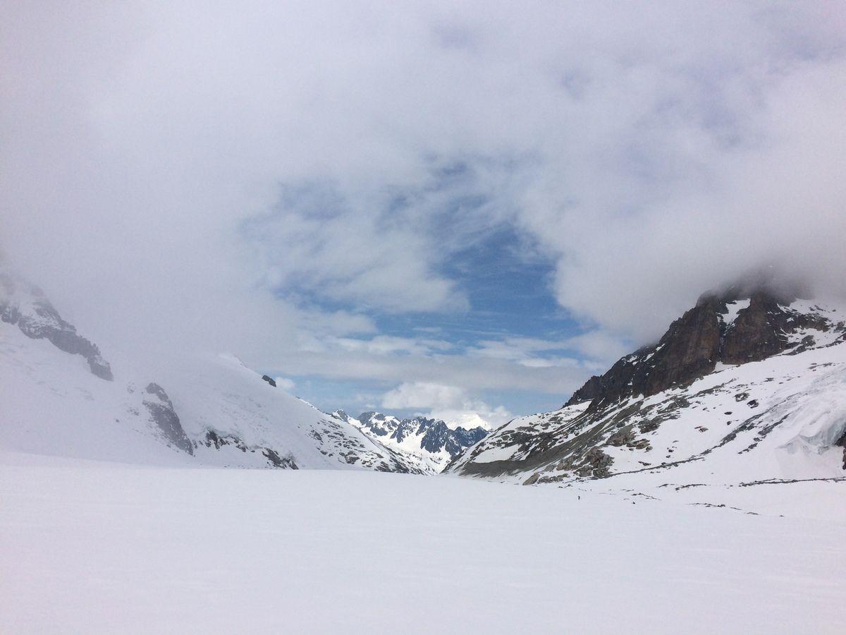 Fenêtre sur le glacier d'Argentière