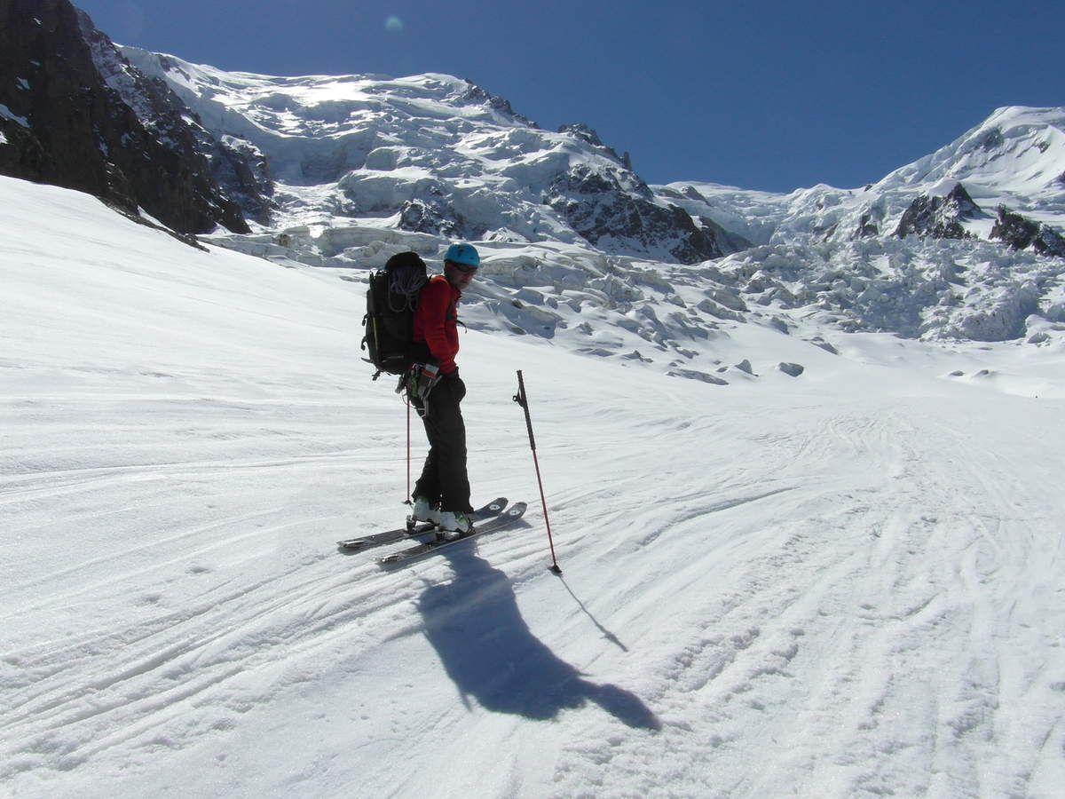 Sur le glacier des Bossons