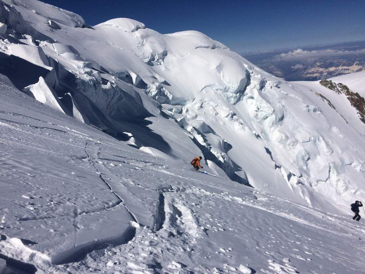 La face nord du Mont-Blanc