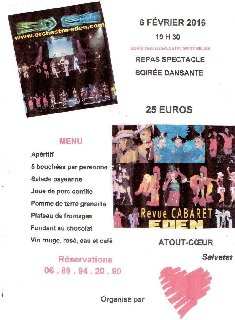 La Salvetat Saint Gilles / Repas cabaret et soirée dansante