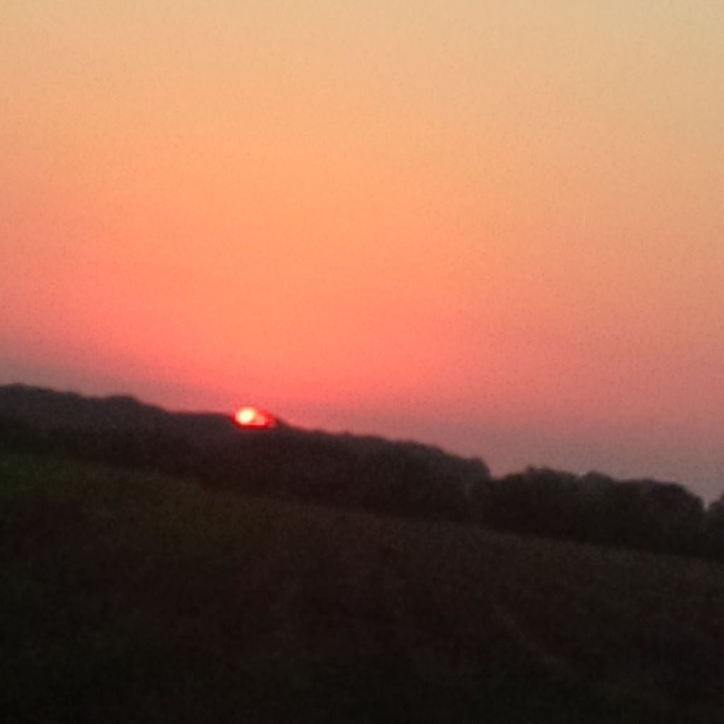 Coucher de soleil du 01/08/2013 - Normandie 21:35 PM - BlackBerry Q10
