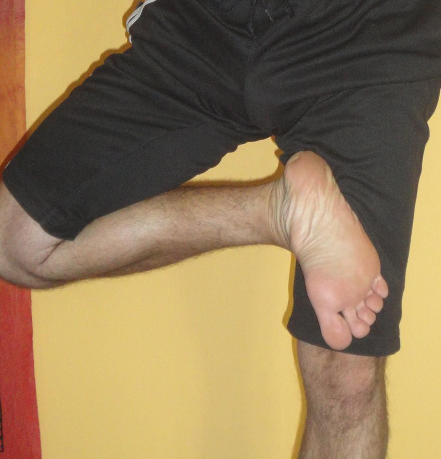 Positions du pied en Vrikshasana.