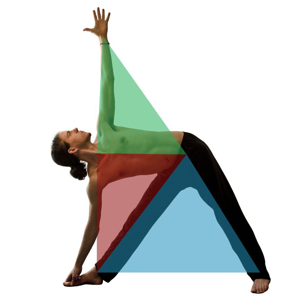 Yoga pour enfants. Trikonasana (les triangles).