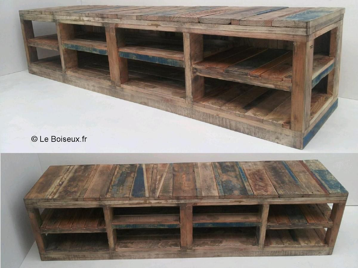buffets vaisseliers meubles bas plateaux de table en bois recycl sur mesure. Black Bedroom Furniture Sets. Home Design Ideas