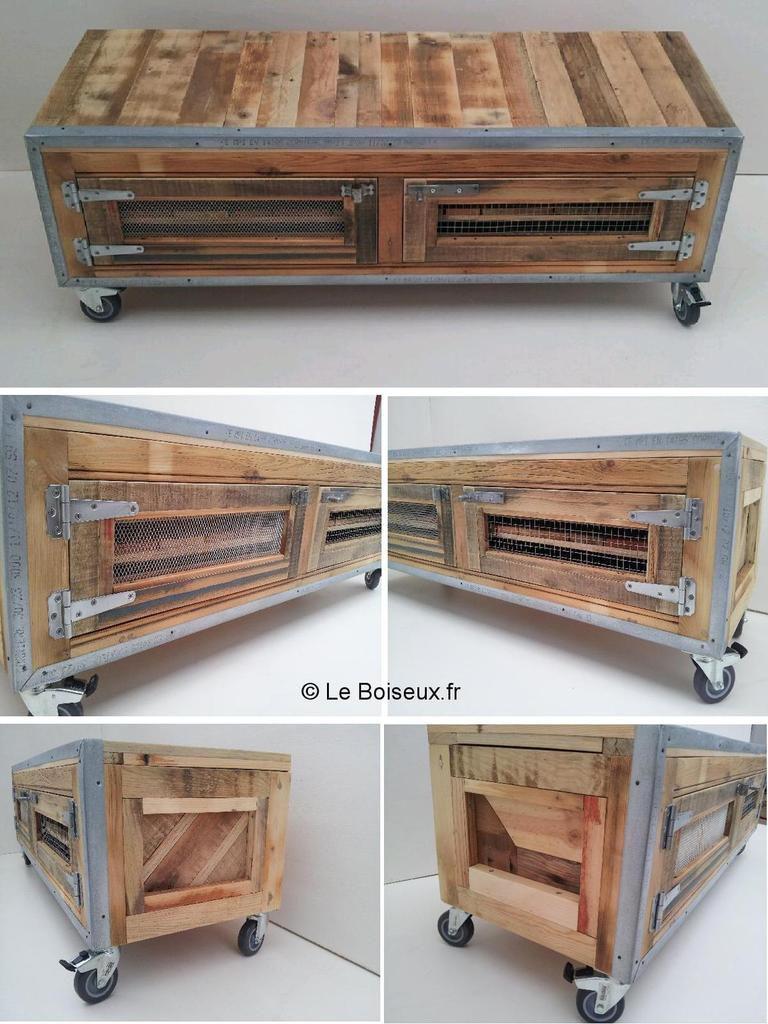meuble bas aux boutons personnalis s plateaux de table en bois recycl sur mesure. Black Bedroom Furniture Sets. Home Design Ideas