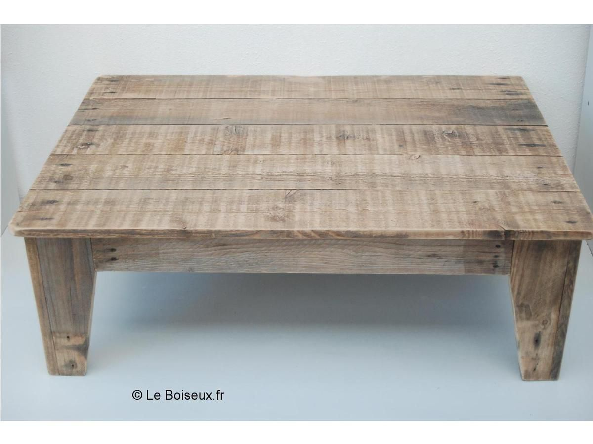 Table basse avec palette en bois for Table basse bois