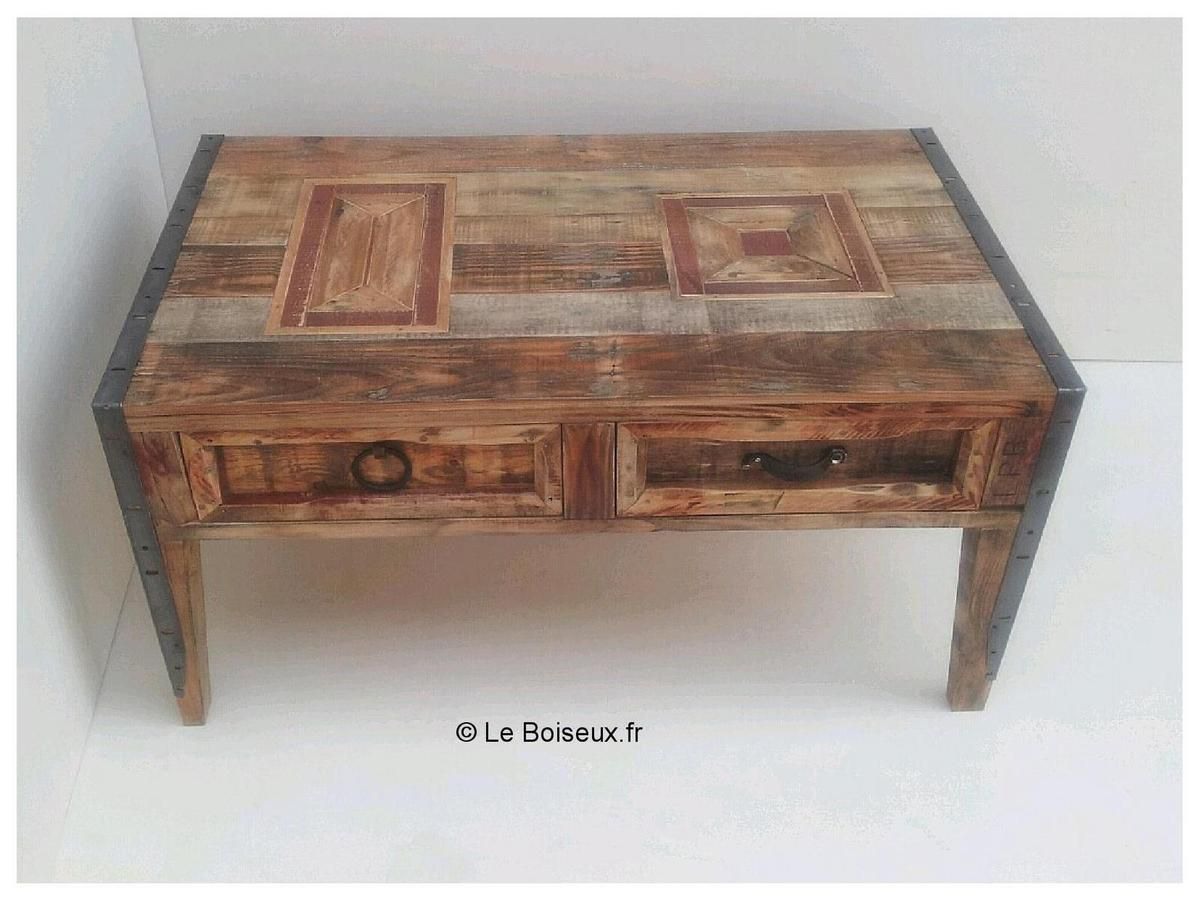 Table basse palette marquet e meubles et d co - Table salon en palette bois ...