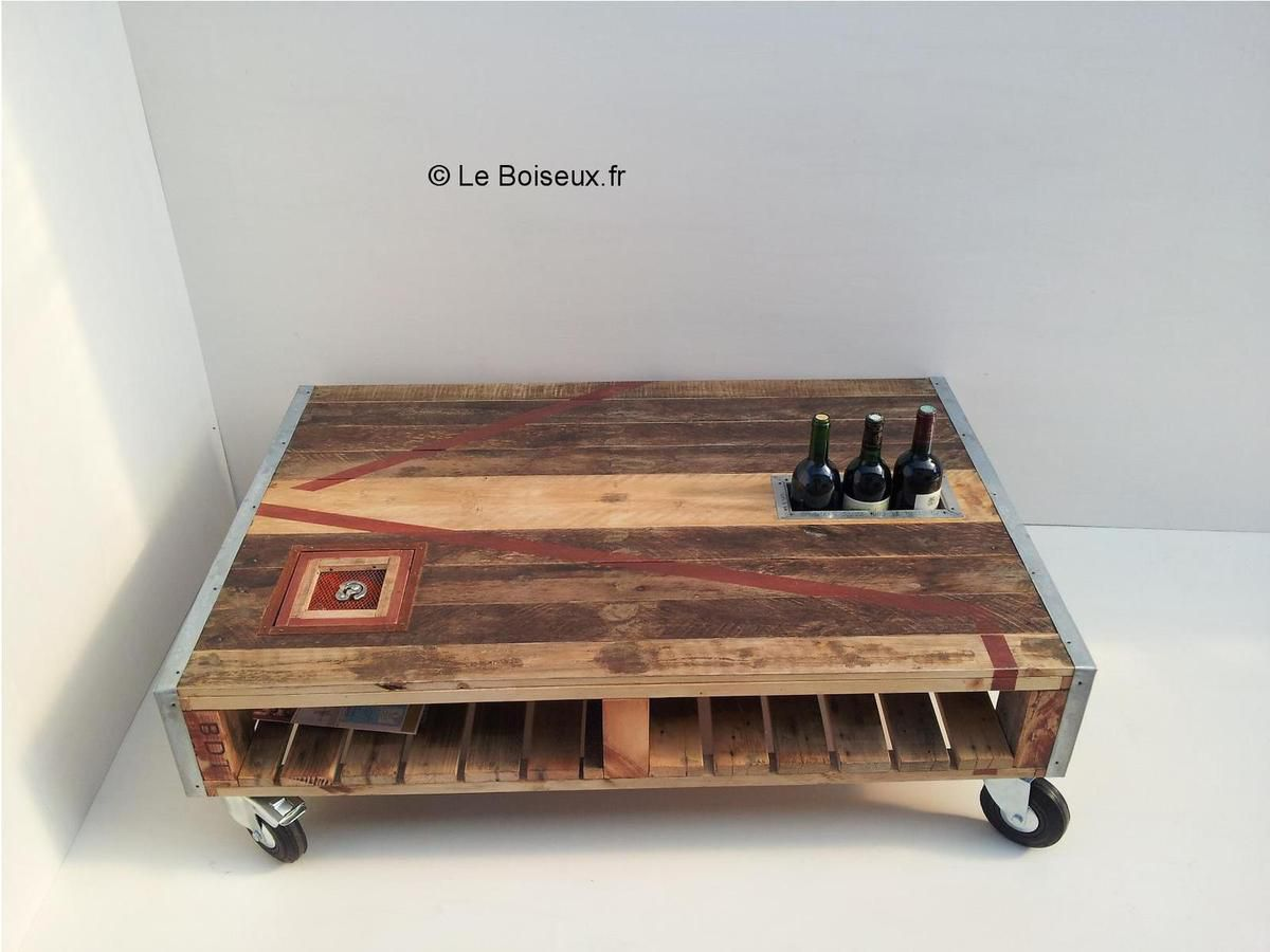 Table basse palette compos e avec go t tables de - Table basse palette design ...