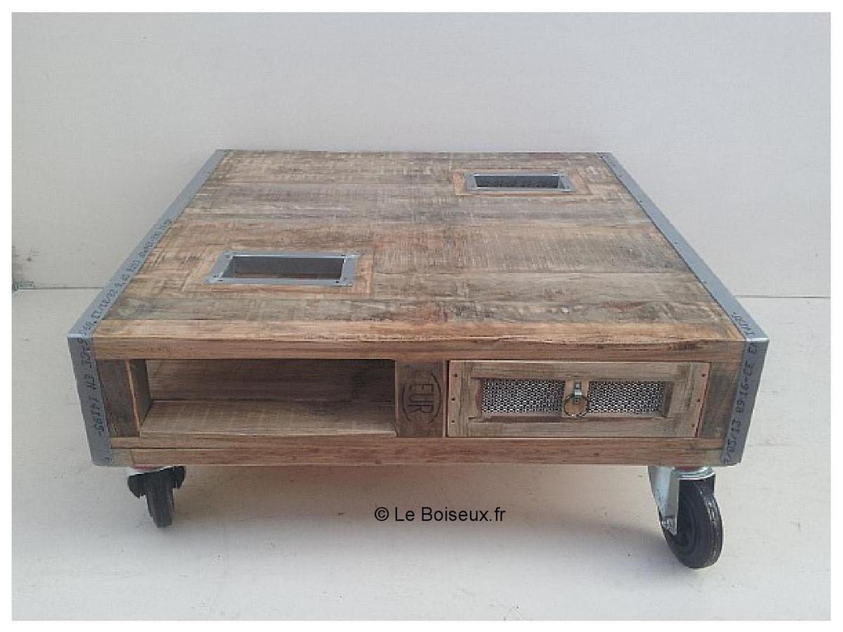 Table basse en palette bois - Table salon palette ...