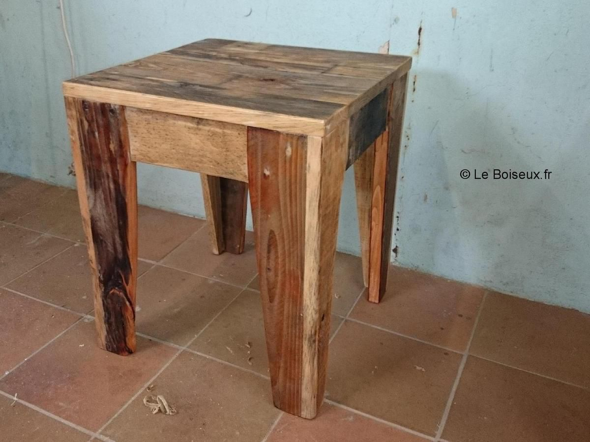 Tabouret de table en bois for Tabouret table de chevet
