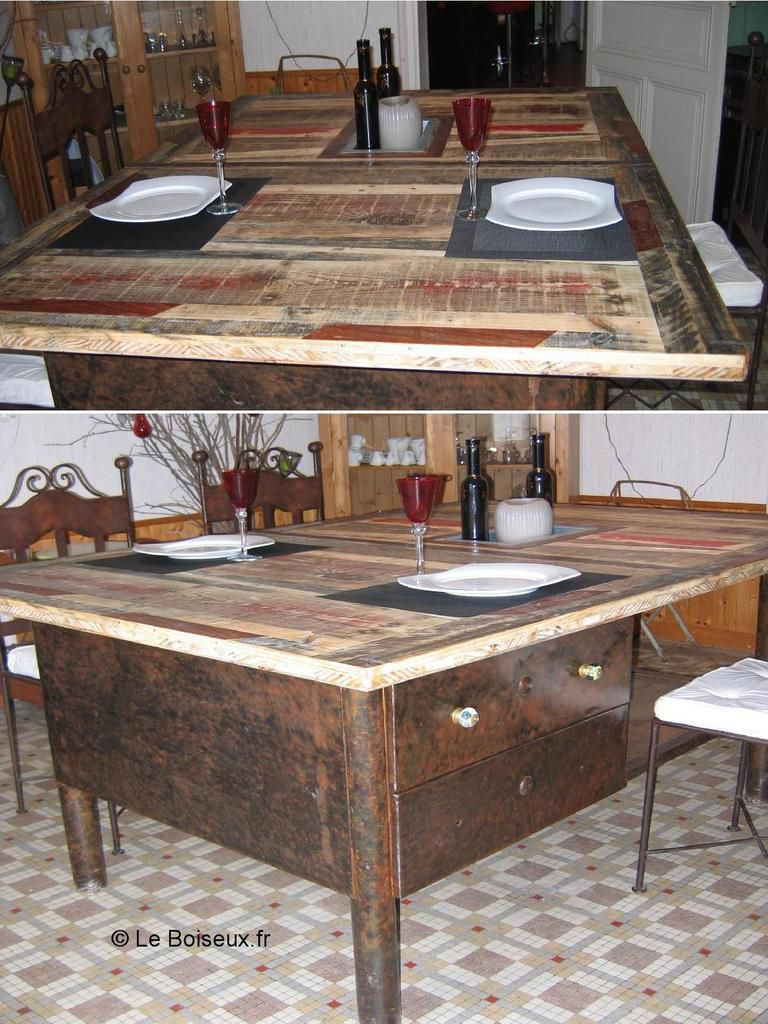 Table d ner vos suggestions de pi tement plateaux de for Plateau table sur mesure