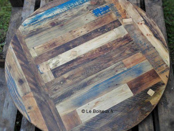 Tables rondes, plateaux diamètre personnalisé