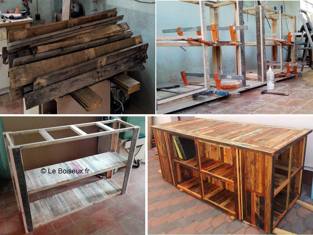 Processus de fabrication d'un caisson pour grand bureau