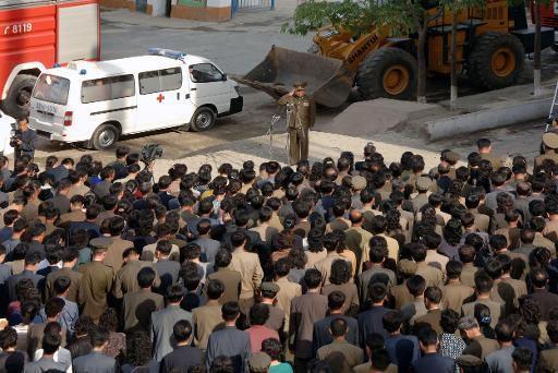 Rassemblement à Pyongyang : excuses publiques des officiels nord-coréens après l'effondrement d'un immeuble dans le quartier de Pyongchon