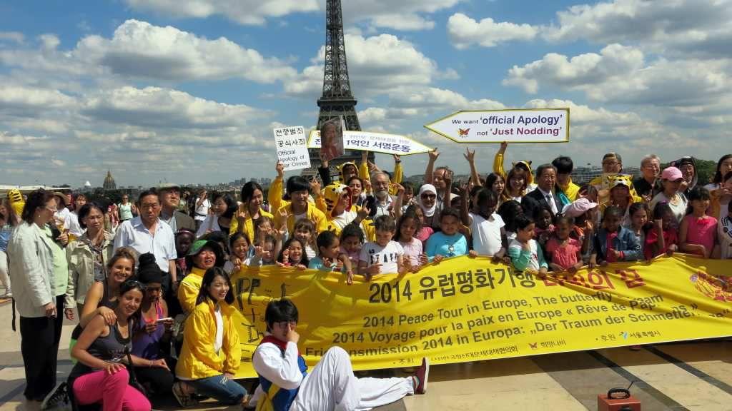 Campagne à Paris et en Europe pour refuser les crimes sexuels commis contre les &quot&#x3B;femmes de réconfort&quot&#x3B;