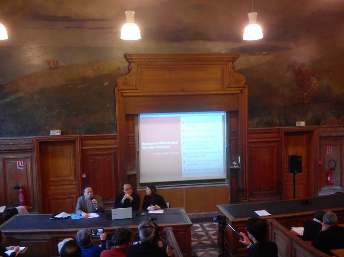 Stephen Cho, intervenant du colloque &quot&#x3B;Marx au XXIe siècle&quot&#x3B; à la Sorbonne