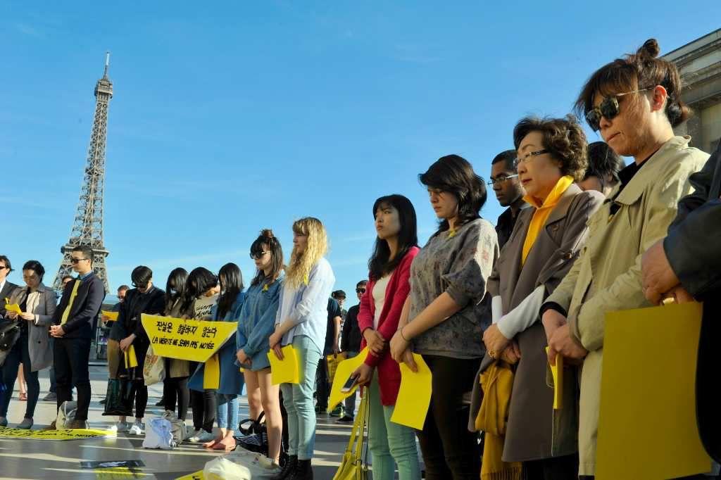 300 manifestants à Paris pour exiger la vérité sur le naufrage du &quot&#x3B;Sewol&quot&#x3B;