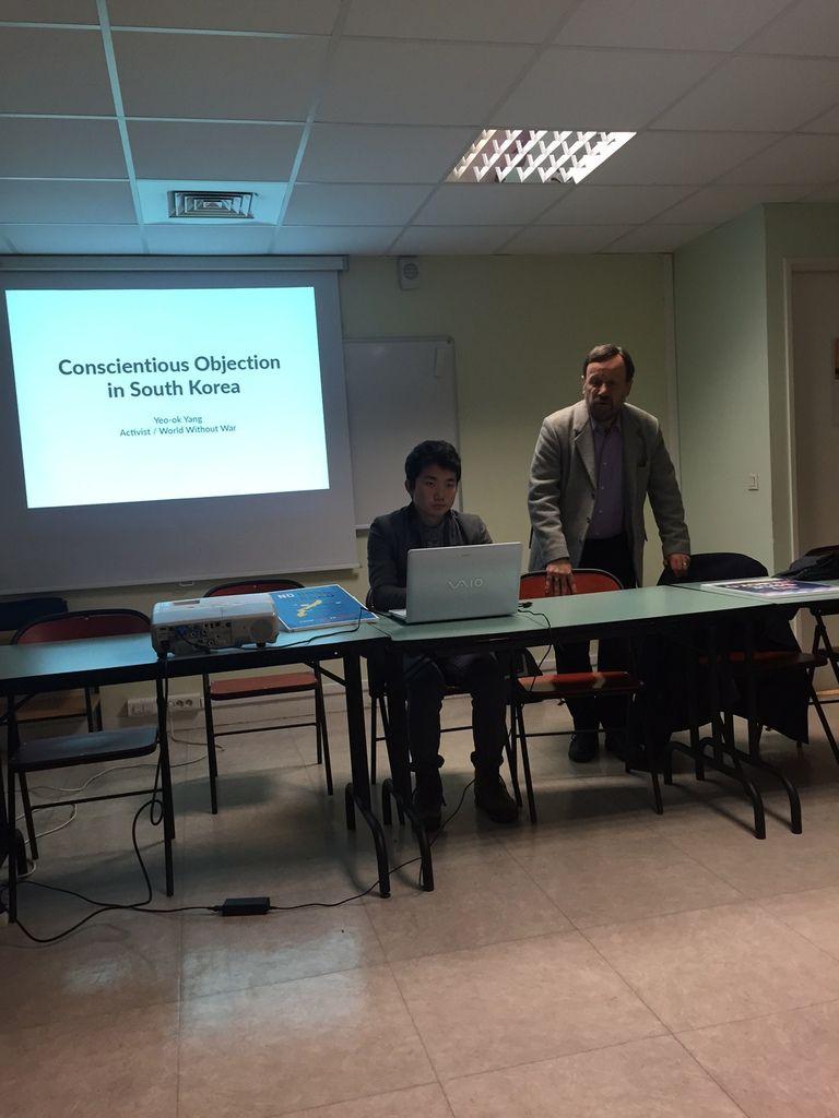 Conférence de Lee Yeda sur l'objection de conscience en Corée du Sud