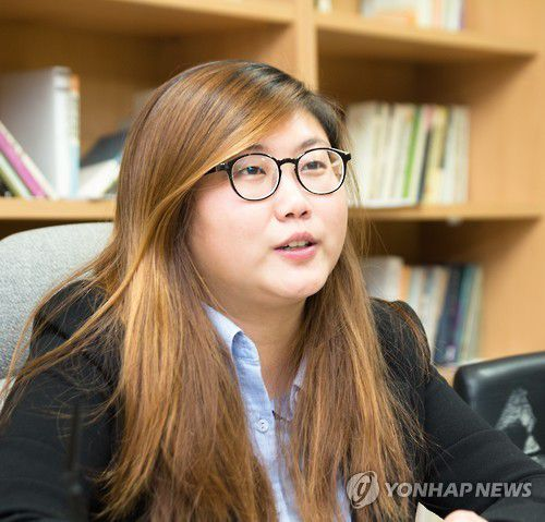 Kim Bo-mi, présidente de l'association des étudiants de l'Université nationale de Séoul