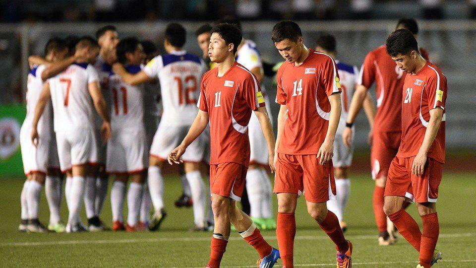 Les joueurs coréens, à l'issue du match contre les Philippines.