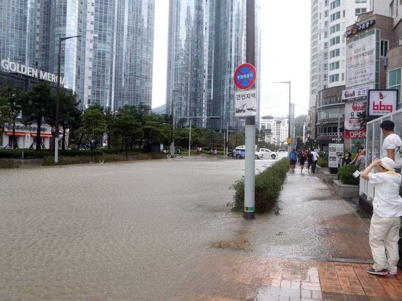 La Corée du Sud frappée par le typhon Chaba