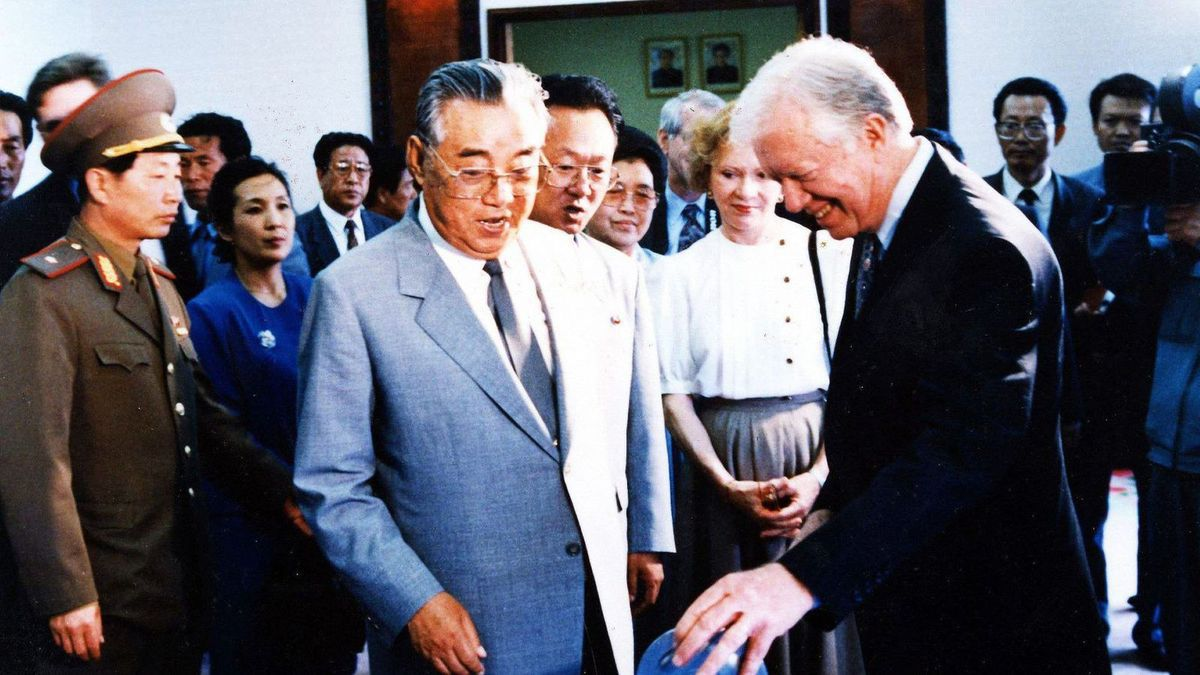 Kim Il-sung et Jimmy Carter