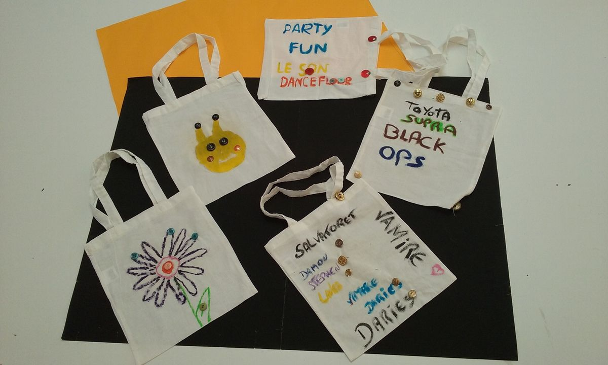 Décoration de sac shopping en Atelier HAS