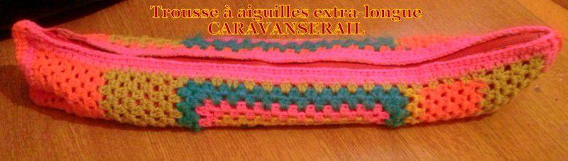 Une trousse à aiguilles à tricoter en crochet