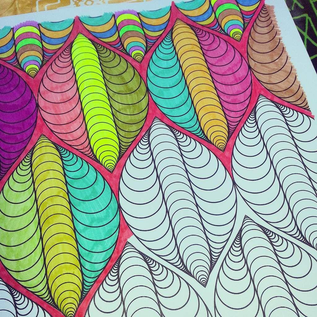 Coloriage anti-stress en cours...