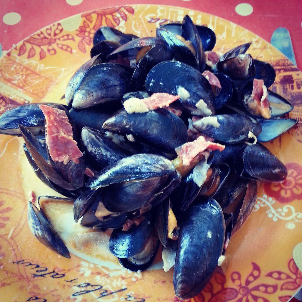 Moules sauce Roquefort au chorizo