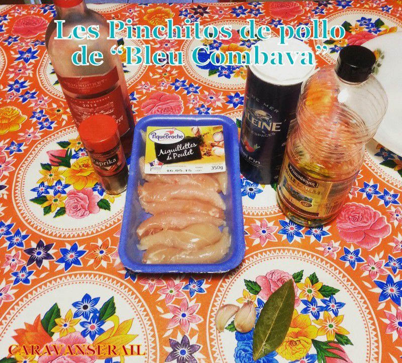 Recette des pinchitos de pollo (petites brochettes de poulet) de Bleu Combava