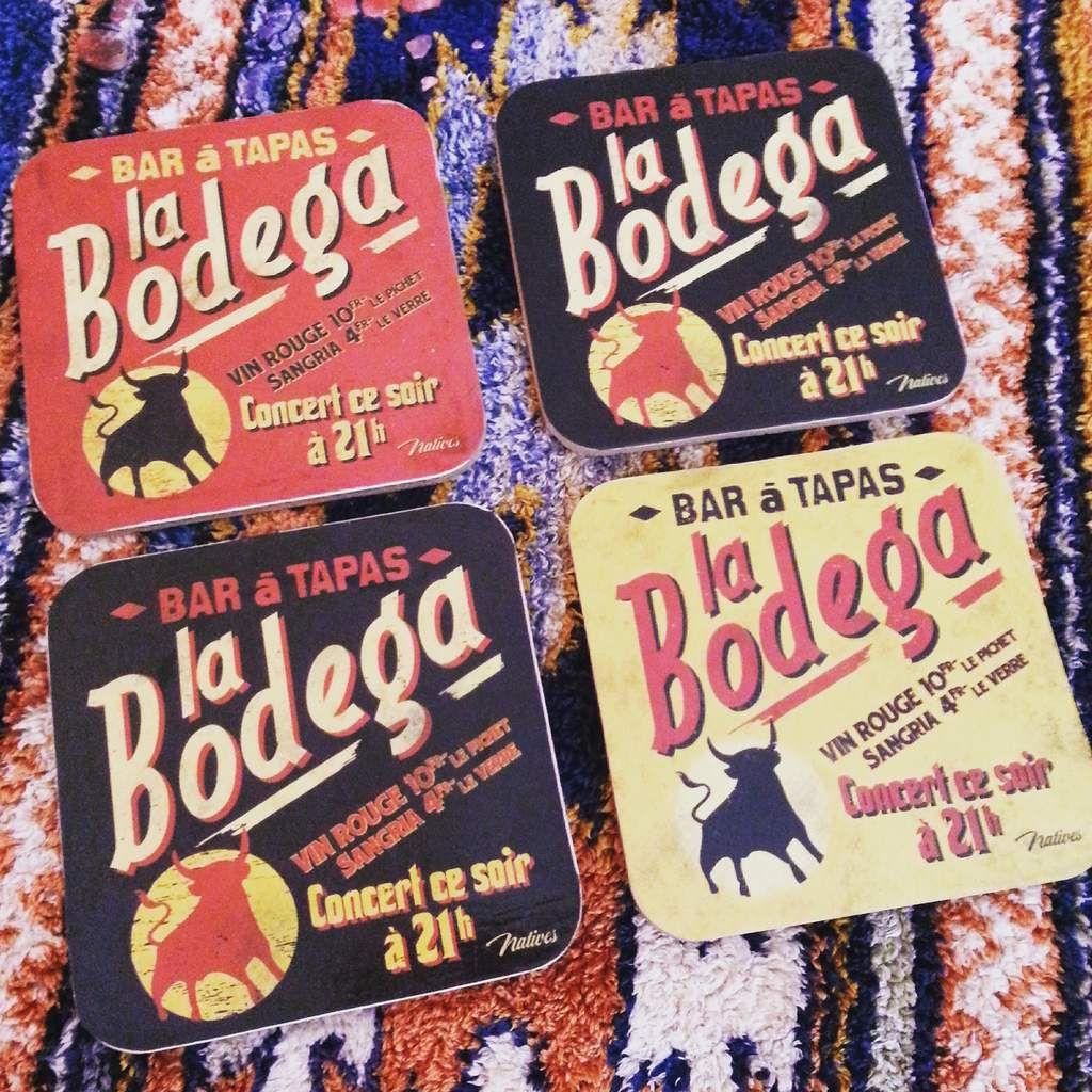 """Et puis bien-sûr, il y a eu des apéros pendant ces week-ends de mai, alors on a sorti les jolis sous-verre """"Bodega"""" ramenés de notre séjour dans les Landes à la Toussaint l'année dernière."""