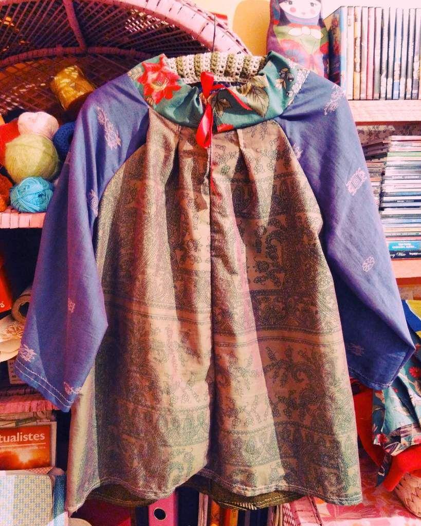 Merci mon amie Kiki pour ces beaux tissus ramenés exprès d'Inde pour moi:)