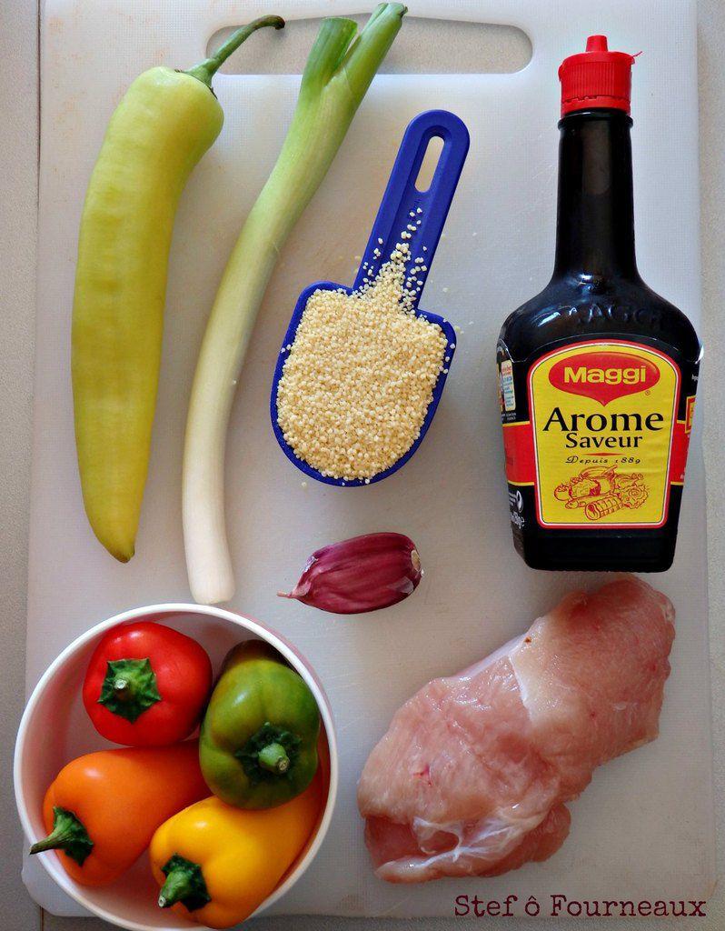 Mini poivrons farcis au poulet avec L'Arôme Saveur Maggi