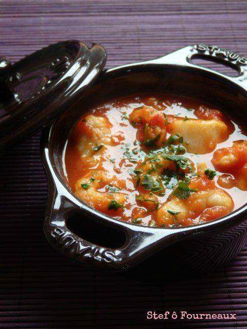 Cassolette de poisson à la tomate {Ultra facile}