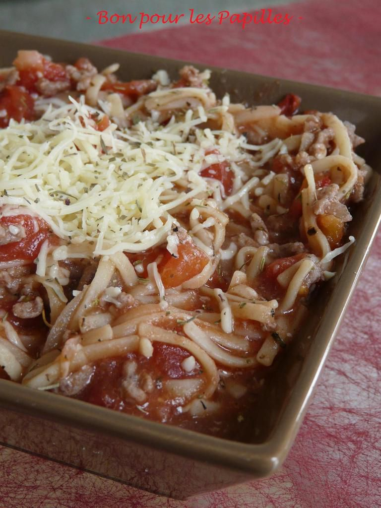 One person / One Pasta - version bolognaise